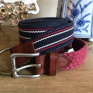•J. Crew• Pair of woven belts
